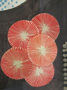 """"""" Louise Bourgeois CINQUE (detail) 2005 5 panel piece, fabric and stitching 18 x 14 inches, per panel x centimeters, per panel CR# Source """" Fabric Drawing, Fabric Art, Art Textile, Textile Prints, Gravure Illustration, Illustration Art, Textiles, Louise Bourgeois Art, Textures Patterns"""
