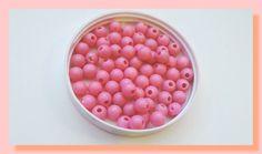 lot de 30 perles en plastique rose 6 mm : Perles en Plastique par chely-s-creation