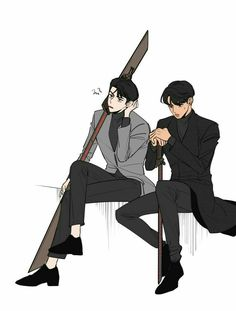 Exo and along with the gods crossover Exo Anime, Anime Art, Cute Illustration, Character Illustration, Exo Fanart, Character Art, Character Design, Kim Jongin, Fanarts Anime