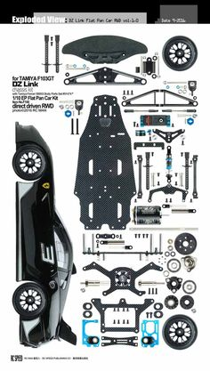 We have made hundreds of exploded view photos of R/C products, and are stored in our large database. Model Cars Kits, Kit Cars, Rc Cars Diy, 3d Puzzel, Rc Hobby Store, Cardboard Car, Exploded View, Hobby Lobby Christmas, Paper Car