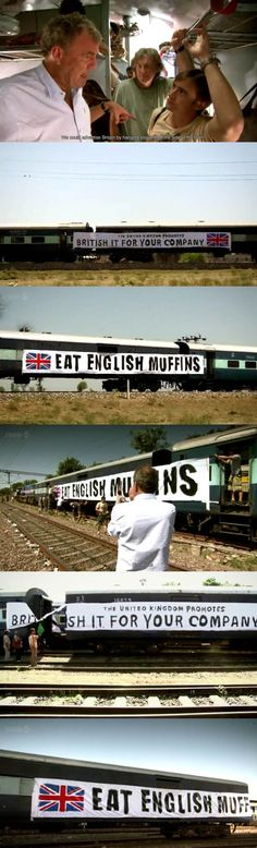 Top Gear Special India: The UK Promotes British I.T. For Your Company and Eat English Muffins. - Imgur