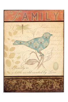Family Bird Print.