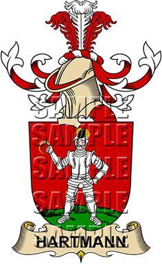 Hartmann Family Crest apparel, Hartmann Coat of Arms gifts