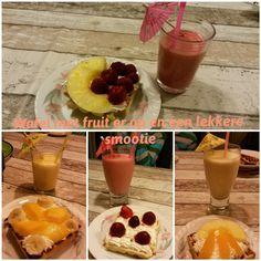 Wafels met fruit en een lekkere smootie