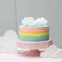 Cake nature fast and easy - Clean Eating Snacks Rainbow Smash Cakes, Cake Smash, Cupcakes, Cupcake Cakes, Pretty Cakes, Beautiful Cakes, Ciel Pastel, Rainbow Birthday Party, Birthday Cakes
