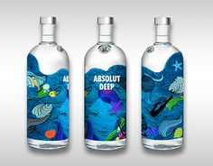 """Check out new work on my @Behance portfolio: """"Absolut Vodka Bottle Design"""" http://on.be.net/1ZRM0ao"""
