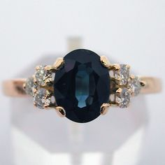 Bague or saphir diamants 391