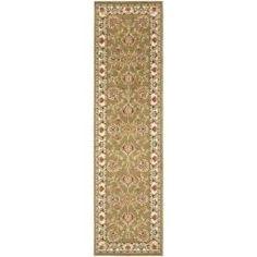 Lyndhurst Tabriz Green/ Ivory Rug (2'3 x 16') | Overstock.com Shopping - Great Deals on Safavieh Runner Rugs