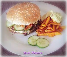 North Coast Burger, Süßkartoffeln & Guacamole