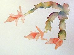 This is a small watercolor study of the Christmas Cactus in yesterday's  post.  I did I light sketch of the shapes and then painted the leav...