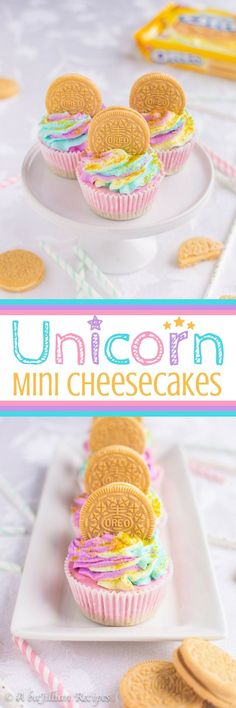 Unicorn Mini Cheesecakes | A baJillian Recipes