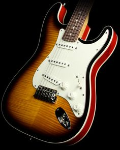 Fender Custom Shop Double Bound Slab Body Stratocaster Electric Guitar Two-Tone Sunburst