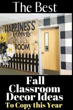 The best fall classroom decorations including the cutest fall bulletin board ideas, door decorations, cute signs and tons of DIY ideas. #classroomdecorations Learning Methods, Fun Learning, Learning Activities, Fall Classroom Decorations, Classroom Themes, Fall Bulletin Boards, Cute Signs, Classroom Door, Classroom Inspiration