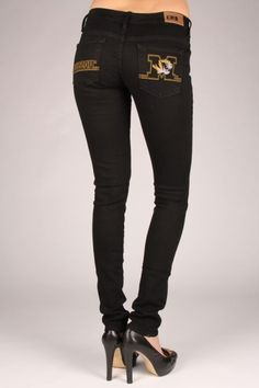 How cute are these MIZZOU Skinny Jeans? You can get them in different jean styles and even shorts! #Missouri