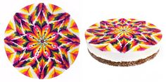 Psychedelic Mandalas Are Turned Into Intricately Designed Edible Vegan Cakes - My Modern Met