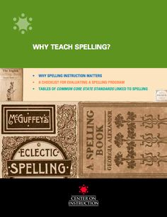 This comprehensive publication provides detailed information regarding the teaching of spelling in today's schools. Of particular note is the section outlining common approaches to spelling instruction and the implications for classroom instruction. I have a better understanding of whole-word, phonemic and morphemic spelling instruction and why all three should be combined for an integrated approach.