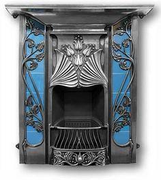 "Art Nouveau Combination Fireplaces, ""The Toulouse""  Victorian Fireplaces"