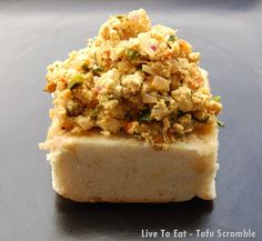 Tofu Scramble - a non-egg South Beach Diet Phase 1 recipe