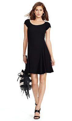 Cap-Sleeve Scoopneck Dress - Polo Ralph Lauren Shop All - Ralph Lauren UK  Ralph 0fcb70b24b9