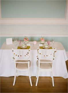 sweetheart wedding table