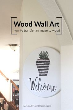 Create DIY wood wall art and learn how to transfer an image to wood using this easy technique. Transfer photos and images to wood. Diy And Crafts Sewing, Crafts To Sell, Diy Crafts, Creative Crafts, Decor Crafts, Decorating Tips, Decorating Your Home, Diy Wood Wall, Wood Art