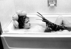 Behind the scenes shots from A Nightmare on Elm Street (dir. Wes Craven, 1984)