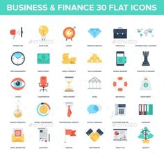 Business Icons — JPG Image #management #finance • Available here → https://graphicriver.net/item/business-icons/9555975?ref=pxcr