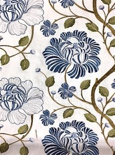 Kaufmann In Bloom Lakeland Drapery Fabric, Fabric Decor, Sari Fabric, Motif Design, Surface Pattern Design, Textile Prints, Textiles, French Country Fabric, English Cottage Interiors