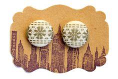 Button Earrings / Vintage Inspired / Posts / Stud Earrings / Handmade Jewelry / Small / Bulk Wholesale / Women / Gifts / Hypoallergenic