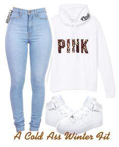 """❄️"" by moenasha ❤ liked on Polyvore featuring мода, H&M, Samsung, Victoria's Secret, Burt's Bees, Victoria's Secret PINK, Aéropostale и NIKE"
