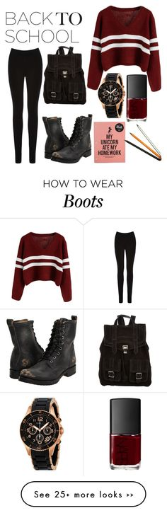 """Back To School combat boots"" by cara-walker on Polyvore"