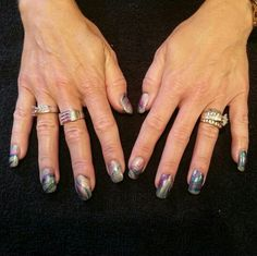 Water marble nail art by Gloria Weber