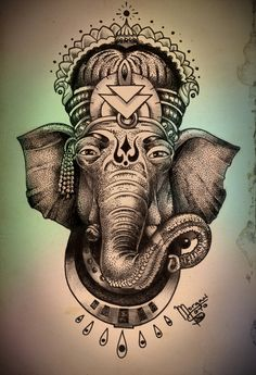 Morgan Soto #art #illustration #ganesha #india #elephant #god #goddess #ink