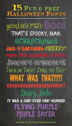 15 Fun and Free Halloween Fonts perfect for any Halloween printable needs. Fancy Fonts, Cool Fonts, Halloween Fonts, Halloween Printable, Computer Font, Silhouette Fonts, Web Design, Type Design, Graphic Design