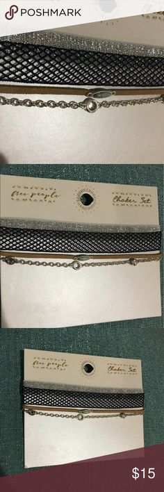 Free People chokers NWT Free People chokers, set of 4. Free People Jewelry Necklaces