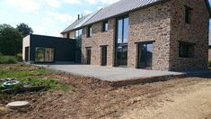 Réhabilitation d'une ferme en Mayenne, Mayenne,to wakeup in this minimal magnificent home is not only blessings but perfection. Modern Farmhouse Design, Modern House Design, Contemporary Barn, Affordable Housing, Stone Houses, Classic House, Large Windows, Terrace, Architecture Design
