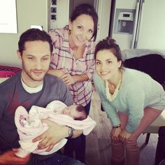 Tom & the baby again - just because Charlotte was there too! :D