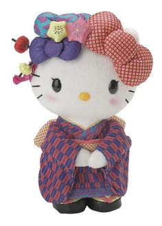 "Hello Kitty NUGEISHA 8"" Standing Plush  Too cute! Great collectible item.  $55.00"