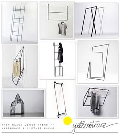 Thin Black Lines Trend - Wardrobes and Clothes Racks // Curated by Yellowtrace.