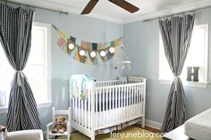 Gingham Curtains in Nursery - we LOVE!
