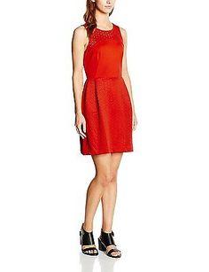 UK 12 (Manufacturer size: 40), Red (poppy Red), Naf Naf Women's Ekoal R1 Sleevel