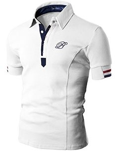 Doublju Mens Polo T-shirts with Short… Polo Shirt Style, Polo Shirt Design, Mens Polo T Shirts, African Men Fashion, Mens Fashion, Kurta Pajama Men, Tommy Hilfiger T Shirt, Le Polo, Camisa Polo