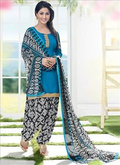 Shop for exceptional Indian Ethnic Wear Patiala Suit Salwar Kameez from Cbazaar at best price. Purchase your favorite Indian Ethnic Wear Patiala Suit through online from US, IND, AUS. Buy Now! Patiala Salwar Suits, Salwar Suits Online, Churidar, Punjabi Fashion, Indian Fashion, Indian Dresses, Indian Outfits, Indian Clothes, Punjabi Girls