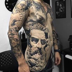 I'm not really a tattoo person, but I can admire the work, and the talent it takes for a tattoo artist to do this kind of detail and shading so perfectly