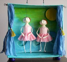 https://flic.kr/p/8dNhu | Ballet Recital | Made with paper mache, paper pulp, cardboard, wire and paint.  It's about 14 inches tall by 13 inches wide and 6 inches deep.