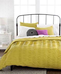 CLOSEOUT! Pleated Tucks 3 Piece Duvet Cover Sets - SALE & CLOSEOUTS - Bed & Bath - Macy's