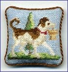 Miniature cross stitch cushion
