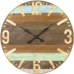 75cm Timber Wall Clock