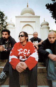 Serj Tankian, Daron Malakian, John Dolmayan y Shavo Odadjian! System of a Down! System Of A Down, Nu Metal, John Dolmayan, Static X, Armenian American, Jonathan Davis, Rock Legends, Kinds Of Music, Latest Music