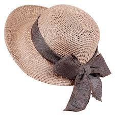 fa42eee0a21 Sun Straw Hat-Womens Floppy Hats Beach Summer Fashion Caps with UV  Protection Roll Up